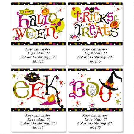 Trick and Treats Select Return Address Labels  (4 Designs)
