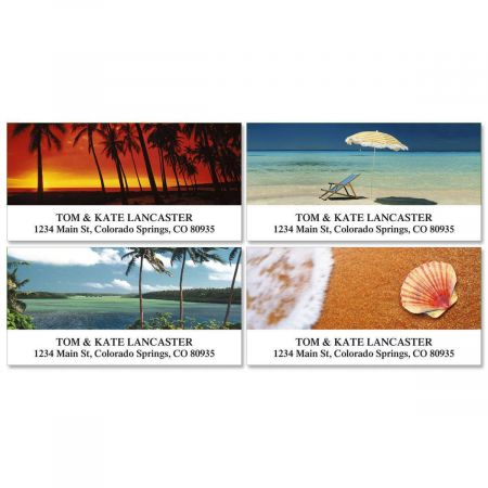 Paradise Deluxe Return Address Labels  (4 Designs)