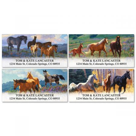 Horseplay Deluxe Address Labels  (4 Designs)