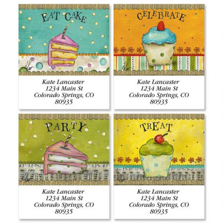 Let's Party Select Return Address Labels  (4 Designs)