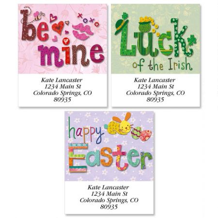 Spring Holiday Select Return Address Labels  (3 Designs)