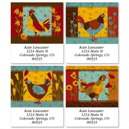 Calico Chicken Select Return Address Labels  (4 Designs)