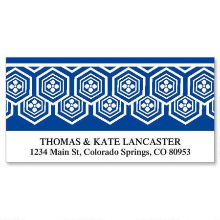 Border Pattern Deluxe Return Address Labels  (12 Designs)