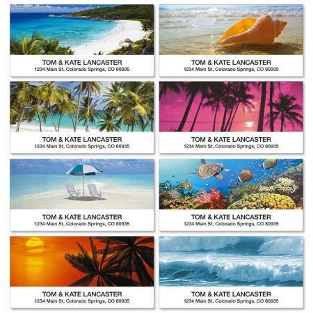 Tropical Paradise II Deluxe Return Address Labels  (8 Designs)