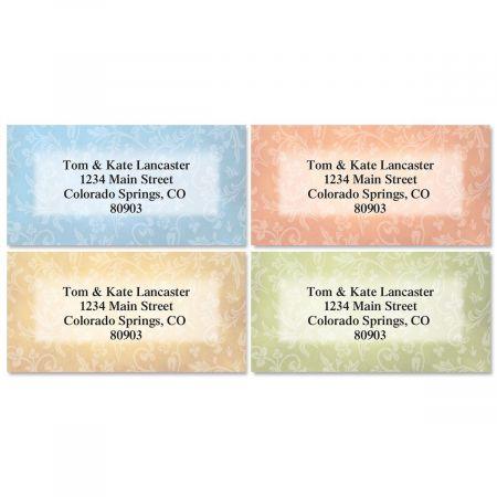 Fresco Border Return Address Labels  (4 Designs)