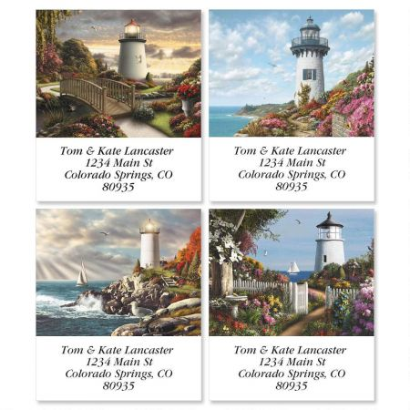 Lighthouses Select Return Address Labels  (4 Designs)