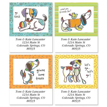Let's Go Select Return Address Labels  (4 Designs)