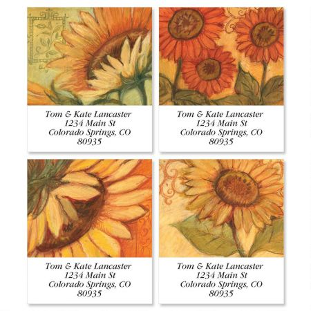 Tuscan Sunflower Select Return Address Labels  (4 Designs)