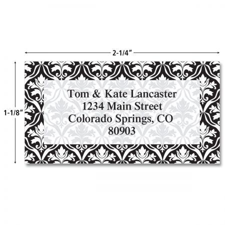 Elegant in Black Border Return Address Labels  (4 Designs)