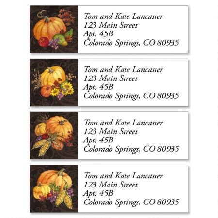 Bountiful Harvest Classic Return Address Labels  (4 Designs)