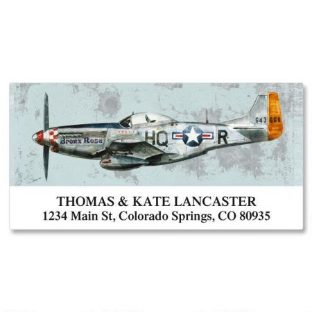 Vintage Airplanes Deluxe Return Address Labels  (6 Designs)