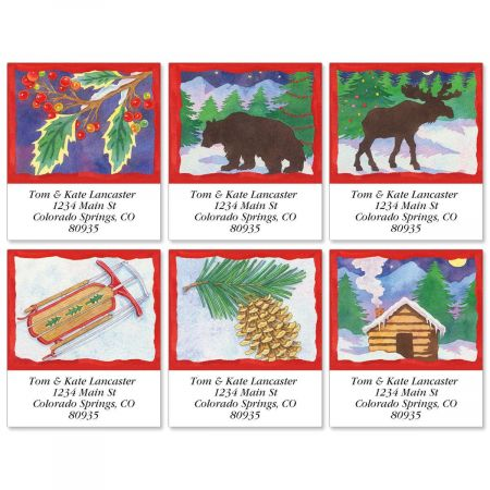 Winter Icons Select Return Address Labels  (6 Designs)