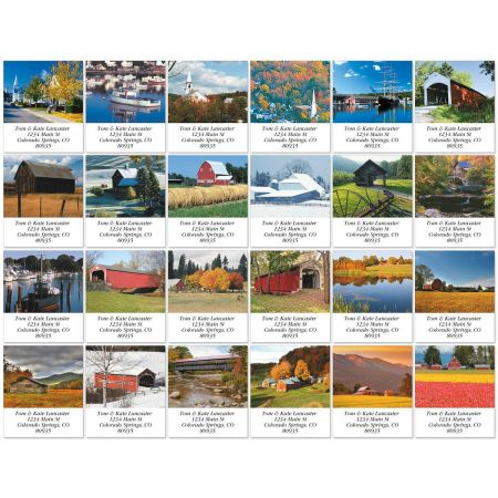 Rustic America Select Return Address Labels  (24 Designs)