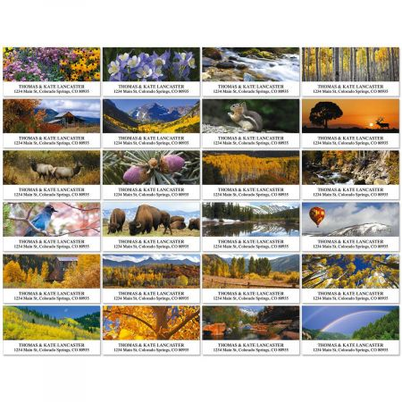 Beautiful Western Colorado Deluxe Return Address Labels  (24 Designs)