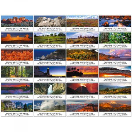 Traveling Across America Deluxe Return Address Labels  (24 Designs)