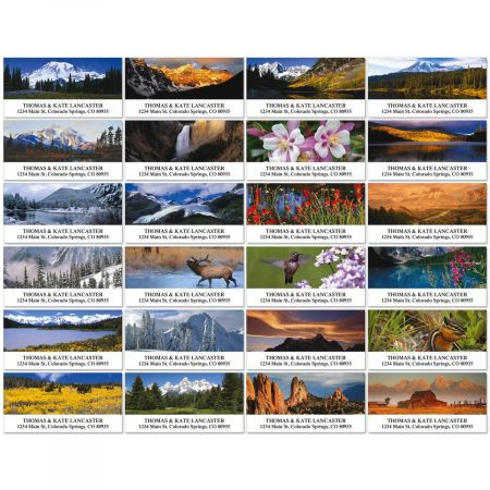 Rocky Mountains Deluxe Return Address Labels  (24 Designs)