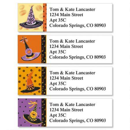 Halloween Hats Classic Return Address Labels (4 Designs)