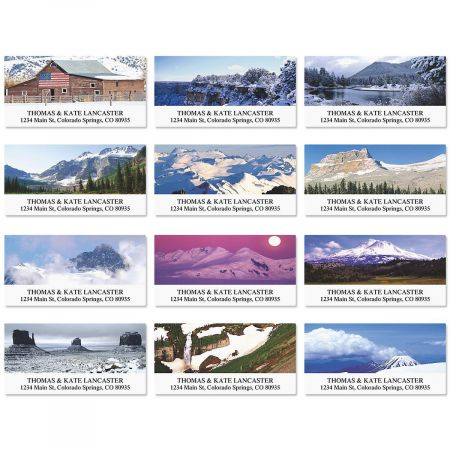 Wintertime in America Deluxe Address Labels  (12 Designs)
