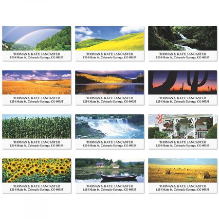 Summer in America Deluxe Return Address Labels  (12 Designs)
