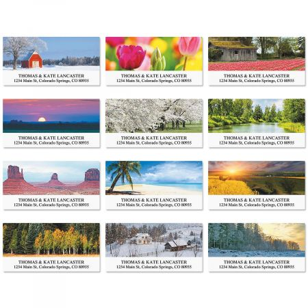 Grace in Nature Deluxe Address Labels  (12 Designs)
