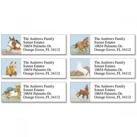 Equine Classic Return Address Labels  (6 Designs)