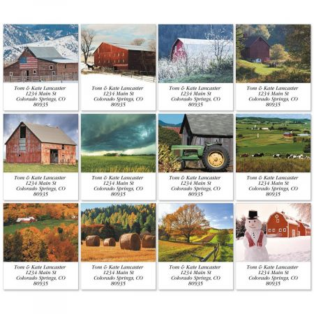 Farmscapes Select Return Address Labels  (12 Designs)
