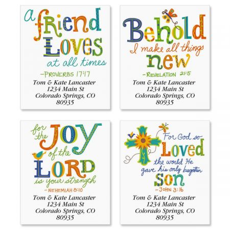 Christian Joy Select Return Address Labels  (4 Designs)