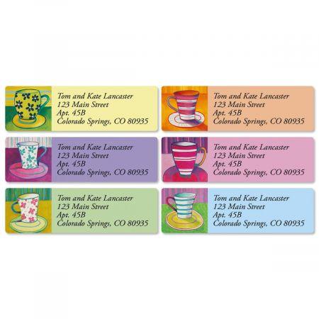 Coffee Break Classic Return Address Labels  (6 Designs)