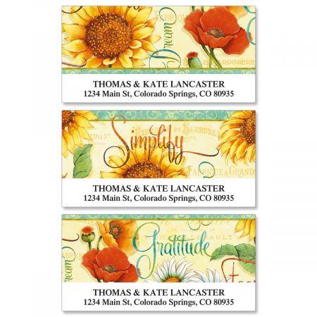 Gratitude Deluxe Return Address Labels  (3 Designs)
