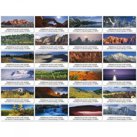 Natural Landscapes Deluxe Return Address Labels  (24 Designs)