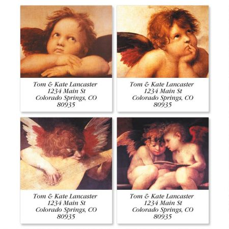 European Angels Select Return Address Labels  (4 Designs)