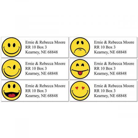 Happy Faces Classic Return Address Labels (6 Designs)