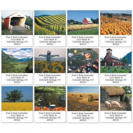 Countrysides Select Return Address Labels  (12 Designs)