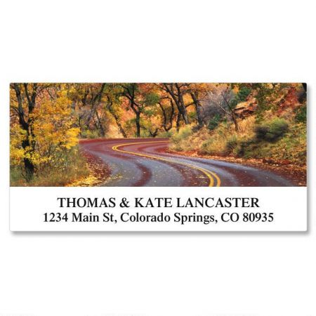 Ramblin Roads Deluxe Return Address Labels  (24 Designs)