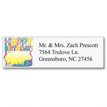 Birthday Classic Return Address Labels  (6 Designs)