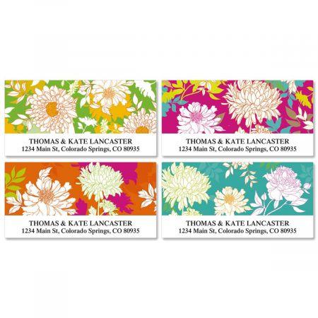 Peonies in Color Deluxe Return Address Labels  (4 Designs)