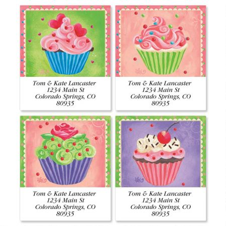 Cupcakes Select Return Address Labels  (4 Designs)