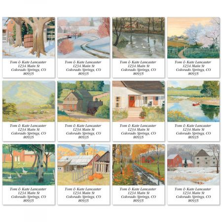Country Living Select Return Address Labels  (12 Designs)
