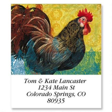 A Year of Roosters Select Return Address Labels  (12 Designs)