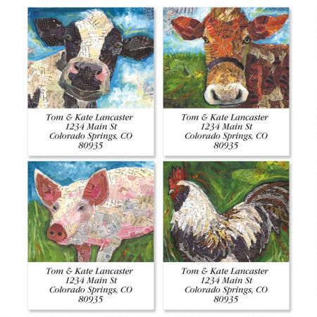 At the Farm Select Return Address Labels  (4 Designs)