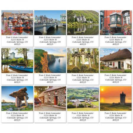 Ireland Select Return Address Labels  (12 Designs)