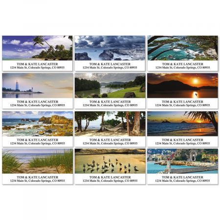 Seascapes Deluxe Return Address Labels  (12 Designs)