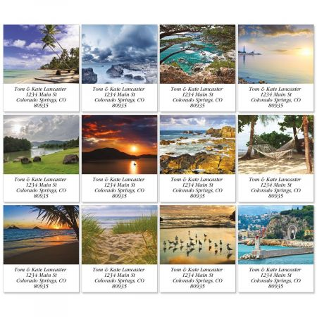 Seascapes Select Return Address Labels  (12 Designs)