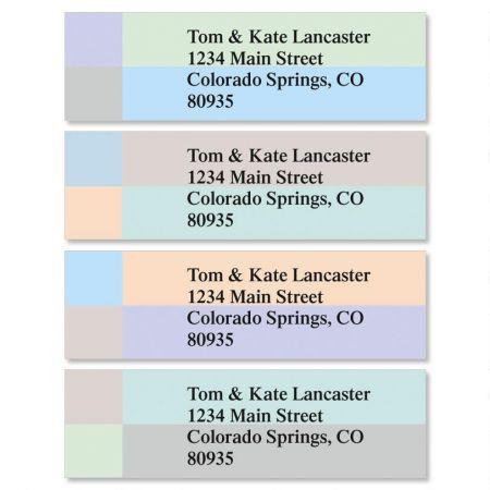 Color Block Classic Return Address Labels  (4 Designs)