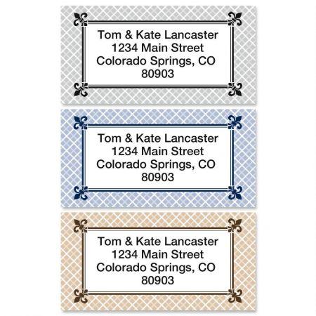 Plain & Simple Border Return Address Labels  (3 Designs)