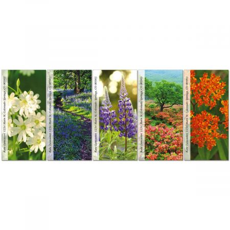 Wildflowers Oversized Return Address Labels  (5 Designs)