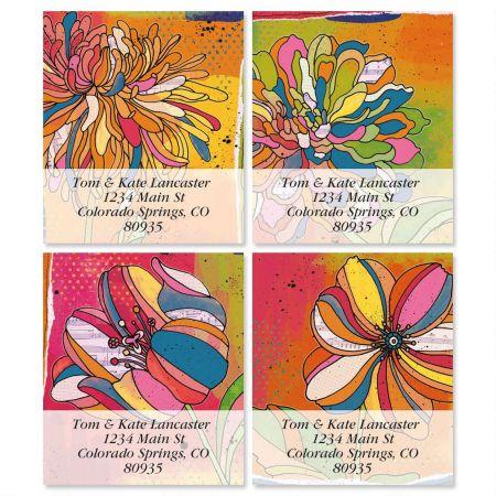 Neon Garden Select Return Address Labels  (4 Designs)