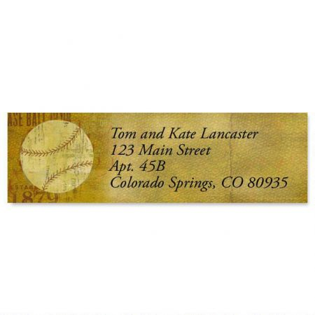 Sports Balls Classic Return Address Labels  (6 Designs)