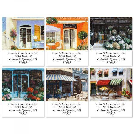 Sidewalk Cafe Select Return Address Labels  (6 Designs)