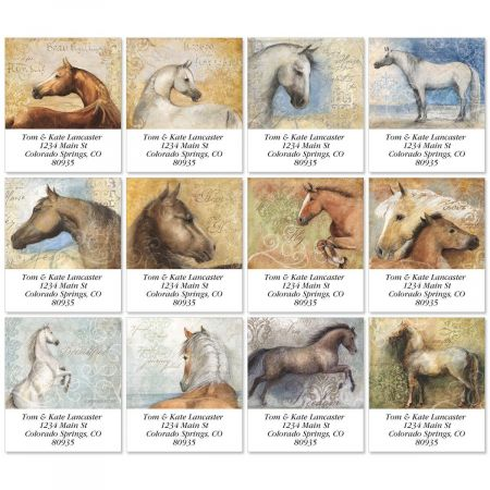 Heaven Is Horses Select Return Address Labels  (12 Designs)